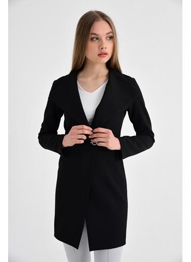Jument Edana Şal Yaka Uzun Kol Tek Düğme Ceket Siyah